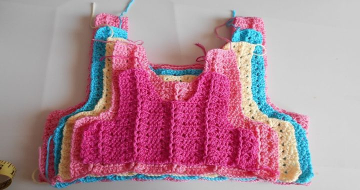 Como hacer canesu a crochet o ganchillo en todas las tallas / How to make canesu for girl dress