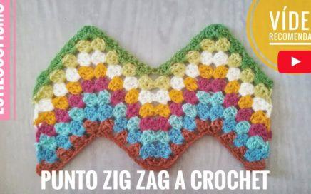 Cómo hacer el PUNTO ZIG ZAG a crochet muy fácil 🌸🌿 PASO A PASO. ESTILOSOFISMO [29] ☆☆☆☆☆