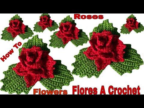 Cómo hacer flores a crochet fácil y rápido paso a paso 🌹🌹🌹🌹