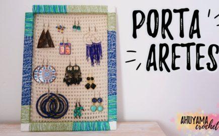 Cómo hacer un ORGANIZADOR DE ARETES a crochet (PENDIENTES, ZARCILLOS...) | Ahuyama Crochet