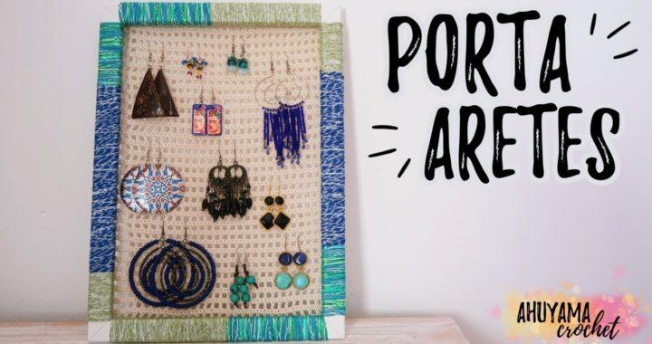 Cómo hacer un ORGANIZADOR DE ARETES a crochet (PENDIENTES, ZARCILLOS...)   Ahuyama Crochet