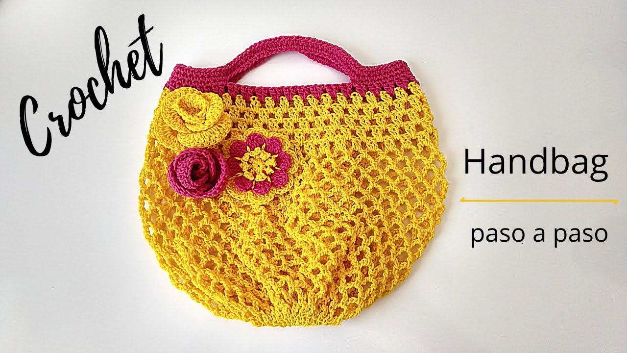 Cómo tejer bolso crochet fácil y rápido | Paso a paso