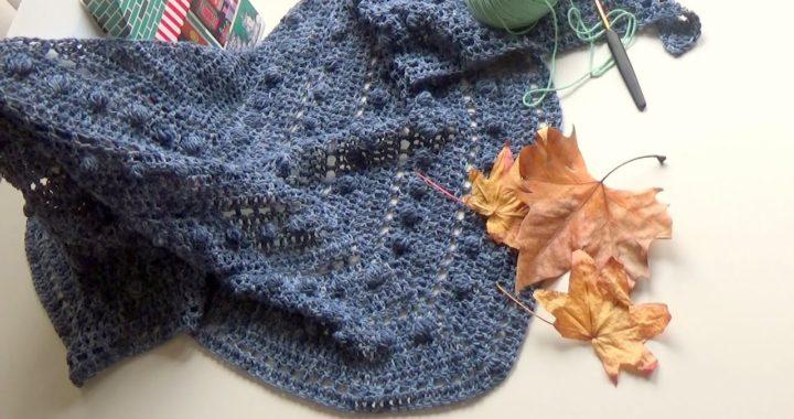 Como tejer un chal fácil a ganchillo /@de verdad crochet