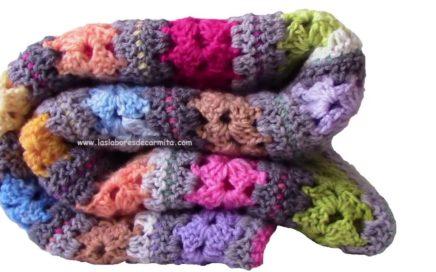 Cómo tejer una manta crochet fácil y rápido :-)
