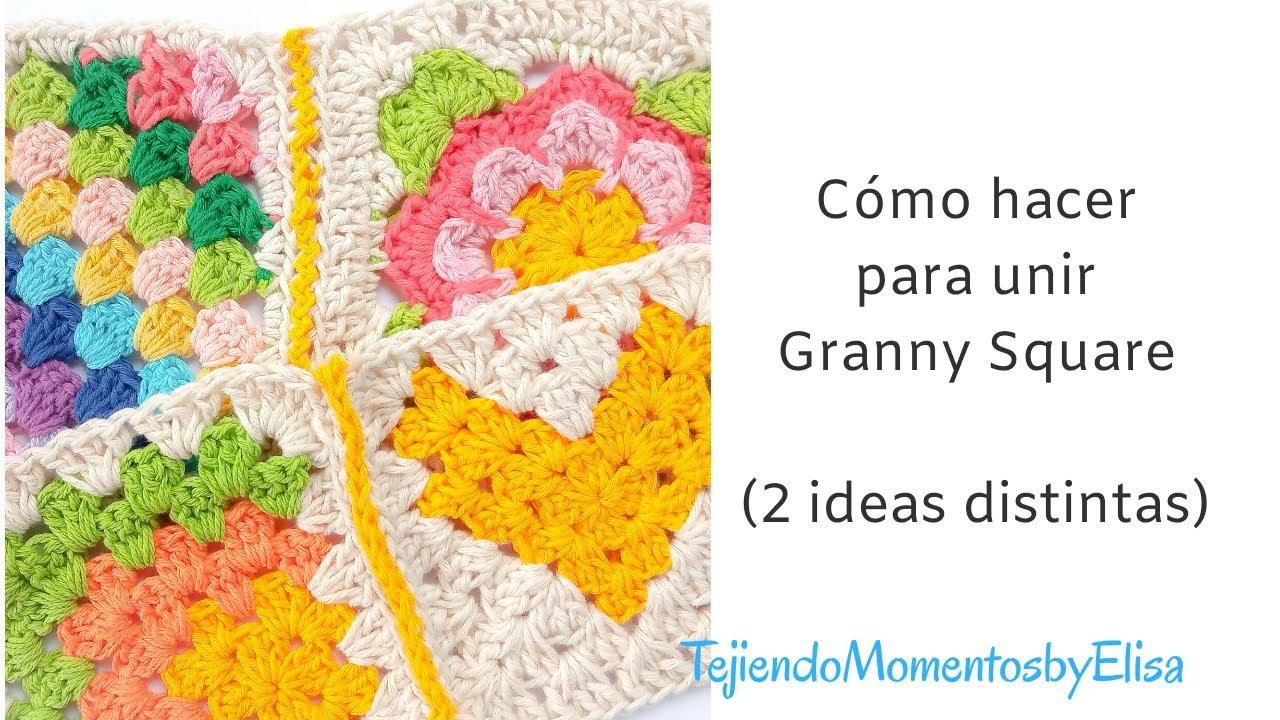 Cómo unir Granny Square #grannysquare #crochet