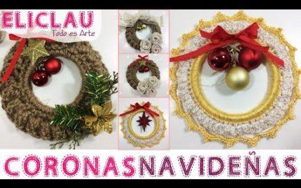 Coronas Navideñas CROCHET Delicada/Rústica | Adornos Navideños | Crown Delicate/Rustic | EliClau