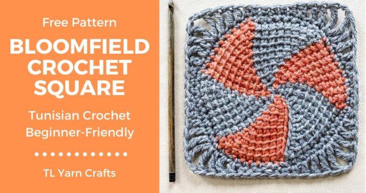 Crochet Bloomfield Square Tutorial [FREE CROCHET PATTERN]