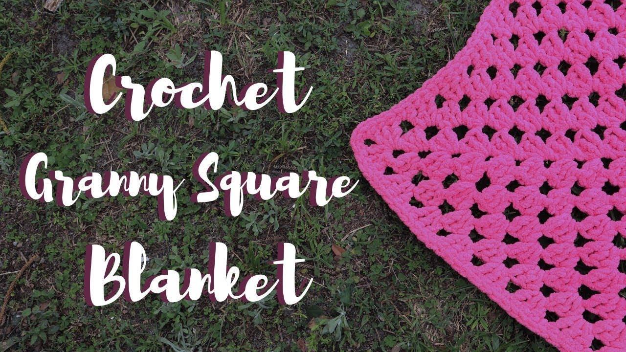 Crochet Granny Square Blanket | Left & Right Handed Tutorial