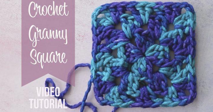 Crochet Granny Square Stitch Tutorial