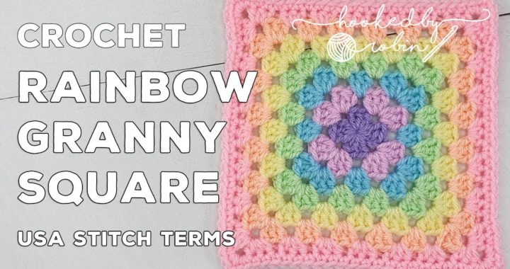 Crochet Rainbow Granny Square 🌈 | Unicorn Dreams Blanket CAL | Crochet Square Tutorial