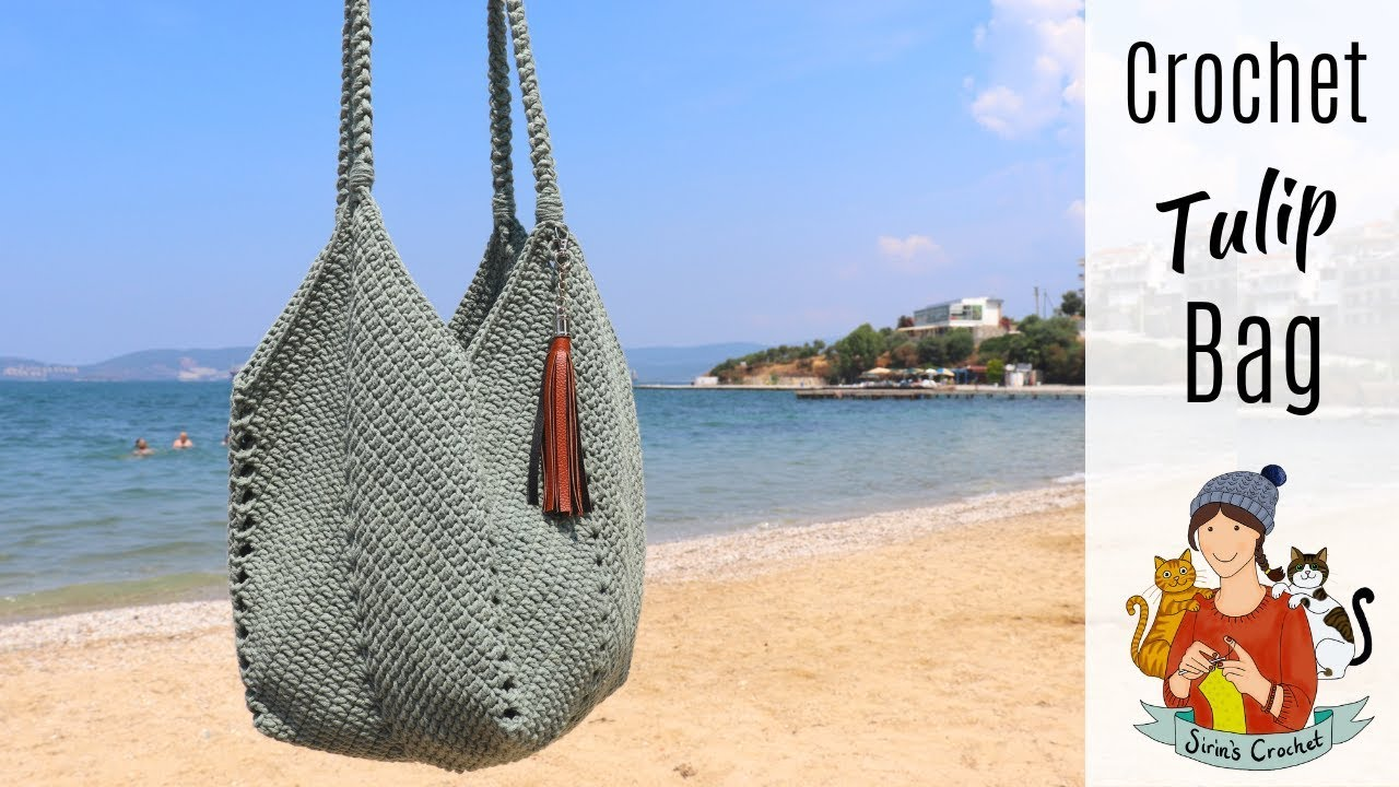 Crochet Tulip Bag With A Solid Granny Square / Bag #2