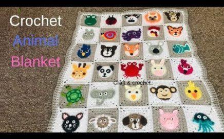 Crochet animal blanket/crochet baby blanket/crochet play mat/crochet blanket/Part:1