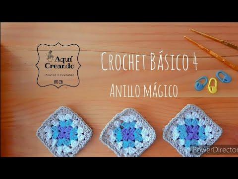 Crochet básico  4  Anillo Mágico .