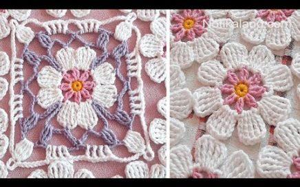 Crochet flower square Crochet flower granny square tutorial