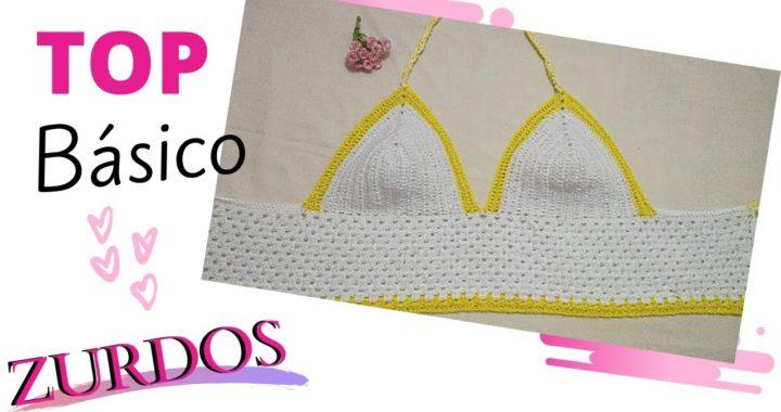 Crochet para ZURDOS ► Como tejer un top basico paso a paso   YM Tejidos