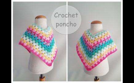 Crochet poncho tutorial / granny square