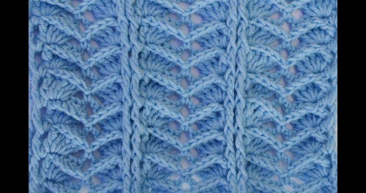 Crochet raised herringbone stitch