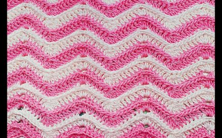 Crochet stitch zig zag very easy