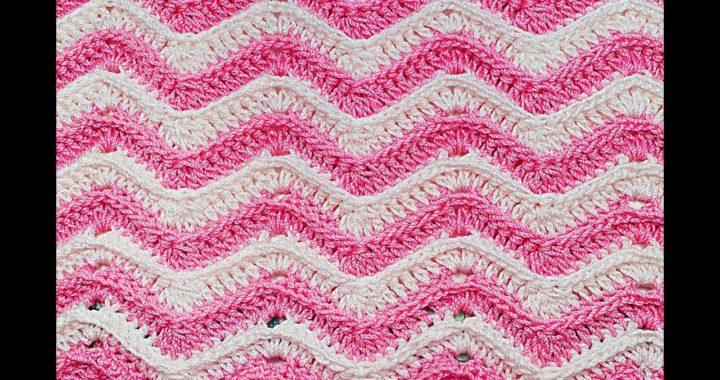 Crochet stitch zig zag very easy