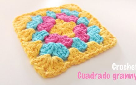 Cuadrado granny a crochet paso a paso