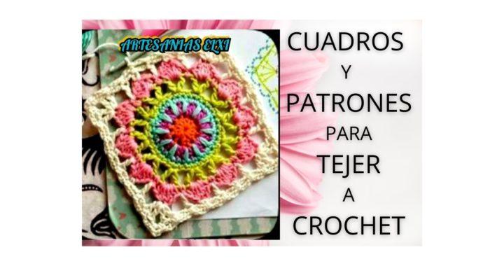 Cuadros y patrones para tejer a crochet.(con ganchillo)
