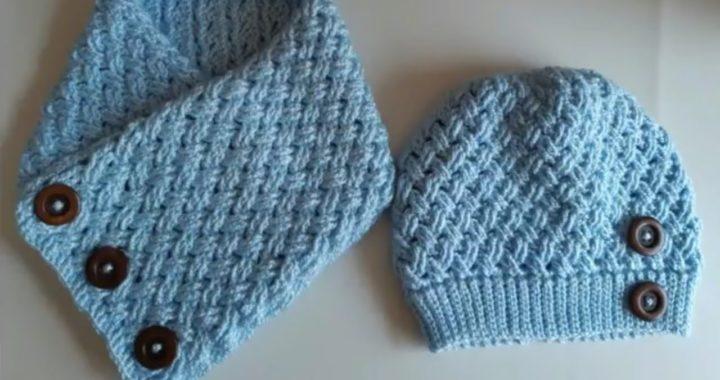 Cuello a crochet tejido facil en punto entrecruzado a ganchillo paso a paso 🧣🧣🧣