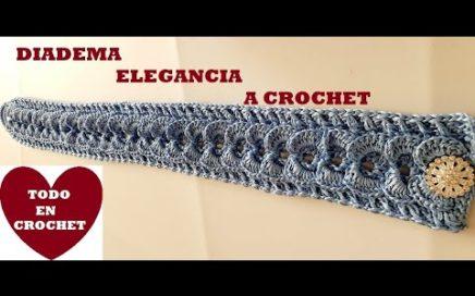 DIADEMA a Crochet FACIL y ELEGANTE