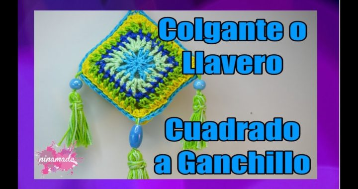 DIY. Llavero o Colgante de Ganchillo Cuadrado // Granny Square to Crochet Key Chains