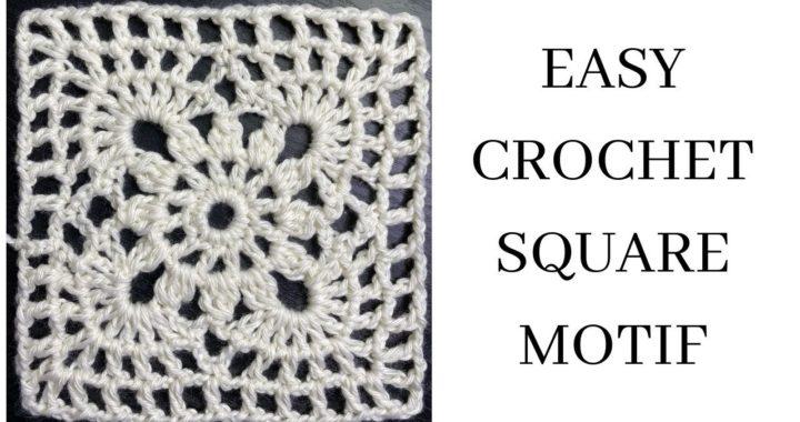 Easy Crochet Square Motif