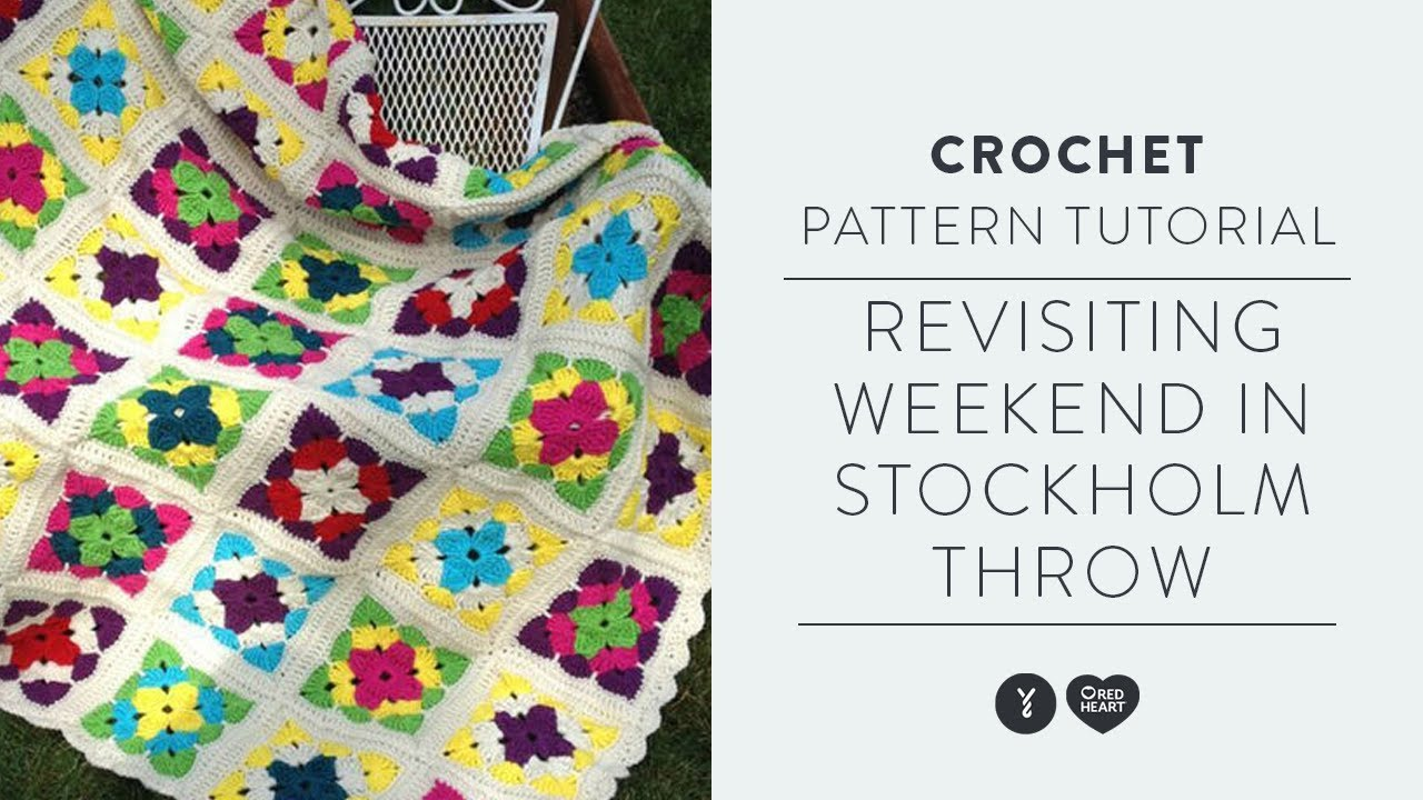 Easy Granny Square Crochet Tutorial | With Marly Bird | Weekend in Stockholm Throw