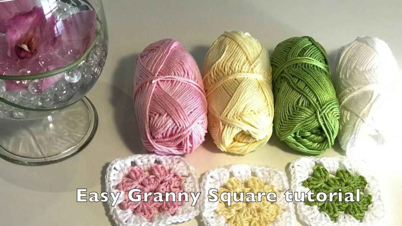 Easy Granny Square crochet tutorial