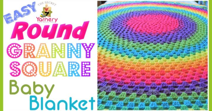 Easy Round Granny Square Baby Blanket 👶 Round Crochet Pattern for Beginners
