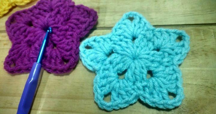 Estrella tejida a Crochet - Tutorial paso a paso