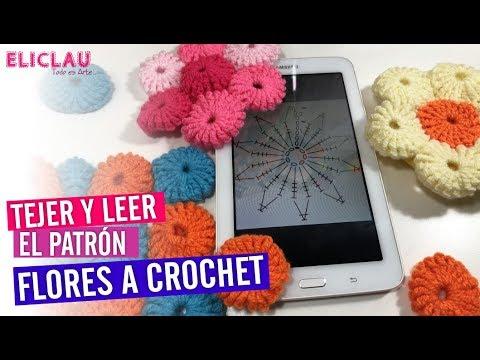 FLOR FÁCIL a Crochet + CÓMO LEER PATRÓN  | EliClau