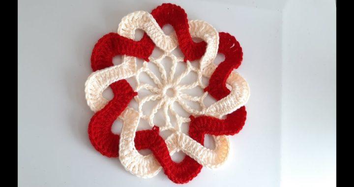 Flor A Crochet Fácil / flor de petalos entrelazados / paso a paso  - Ganchillo
