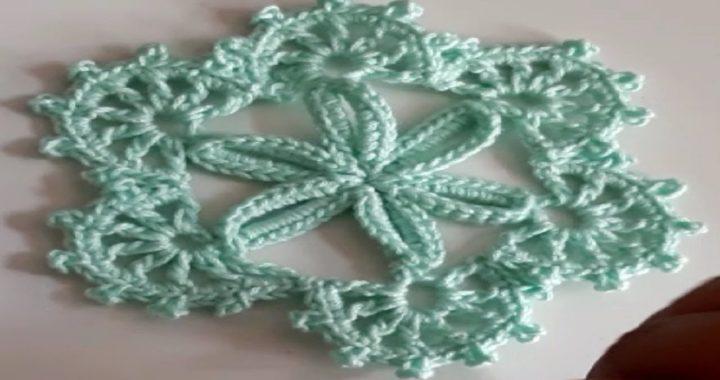Flor A Crochet Fácil / paso a paso - Ganchillo - Copo de nieve