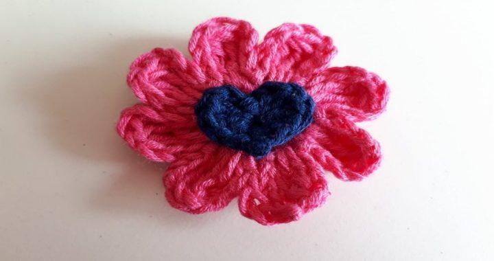 Flor A Crochet Fácil / tejido paso a paso - Ganchillo -