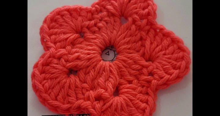 Flor, aprender a leer y tejer patrones para principiantes, tejido crochet ganchillo