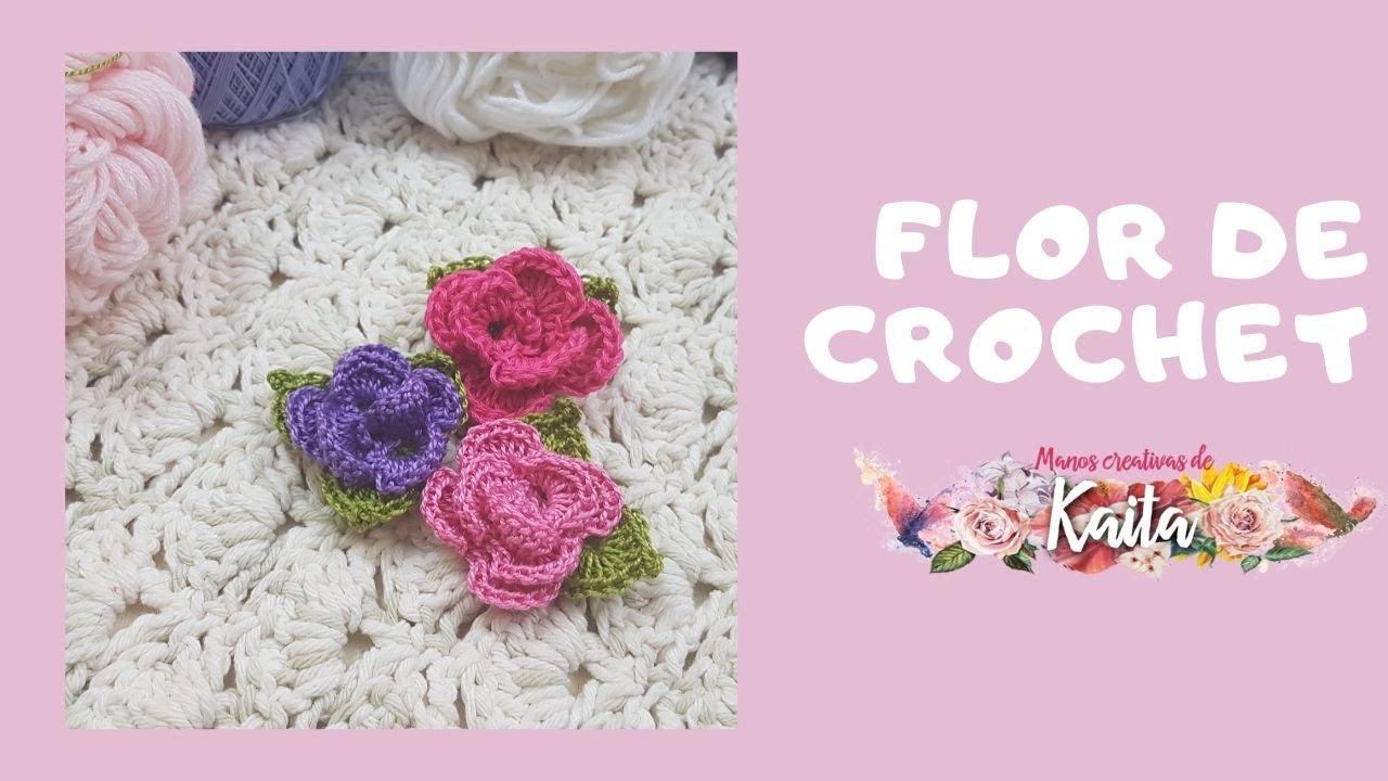 Flor de Crochet Fácil (Tutorial nivel básico)
