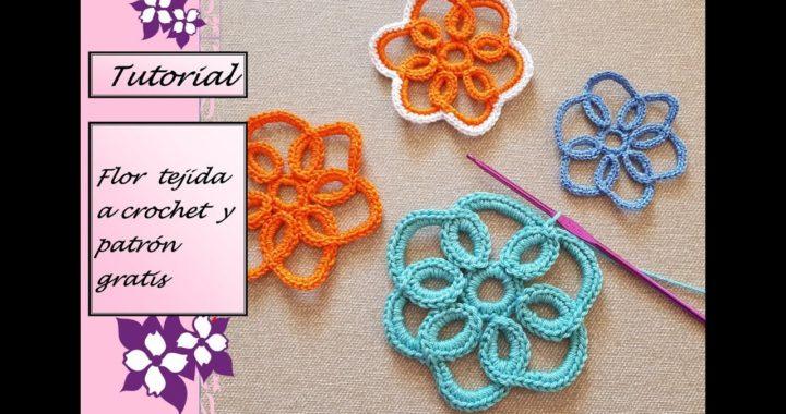 Flor tejida a crochet con patrón gratis!!!