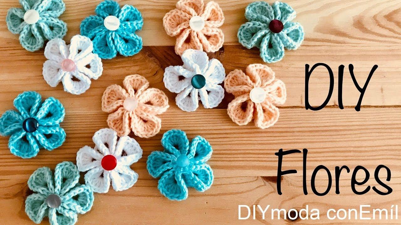 Flores a crochet paso a paso fácil