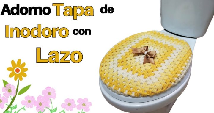 🌈 Forro de Tapa de Inodoro a Crochet con Lazo Fácil y Rápido ✅ Tejidos a Crochet para Principiantes
