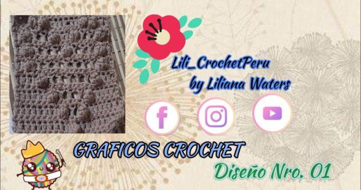 GRAFICOS DE CROCHET : Diseño Nro.01  PARTE 1