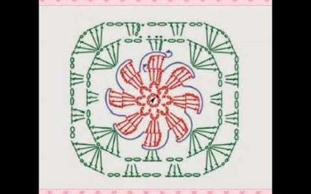 Gráficos de squares de crochê