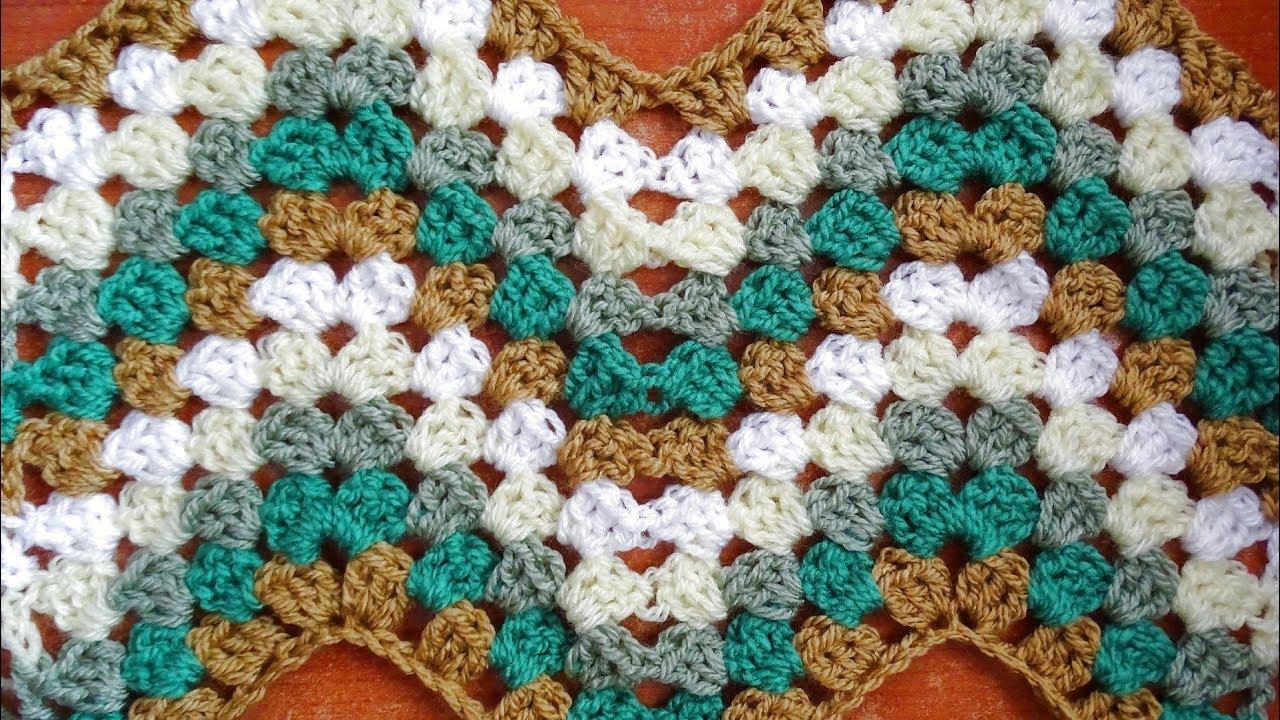 Granny Ripple Crochet Stitch - Right Handed Crochet Tutorial