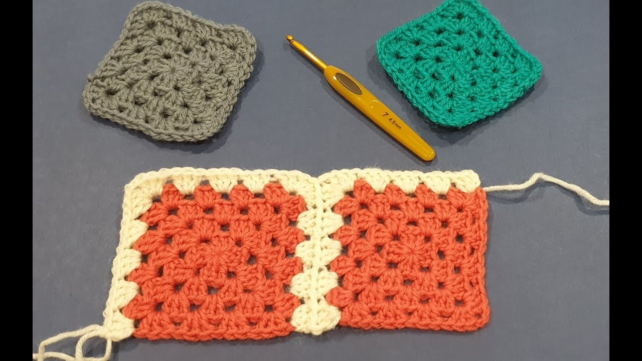 Granny Square Blanket Crochet Along Part 3 - Joining Your First 8 Squares