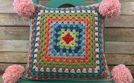 """Granny Square Series #2 - 12"""" Granny Square Pillow Tutorial"""