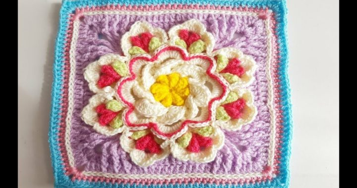 Granny Square a Crochet - Ganchillo - How To Crochet a Granny Square - parte #2