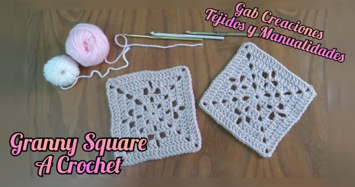 Granny Square a Crochet, fácil y rápido