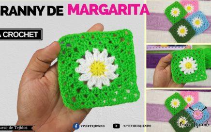 Granny de Flor de Margarita a crochet | Curso de tejidos a crochet online 2018
